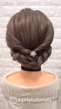 12 Tutorials Braid Hair You Can Do Yourself Part 2 – beautiful hair styles for wedding Updo Hairstyles Tutorials, Step By Step Hairstyles, Easy Hairstyles For Long Hair, Braids For Long Hair, Pretty Hairstyles, Braid Hair, Hairstyles Videos, Braids Easy, Box Braids
