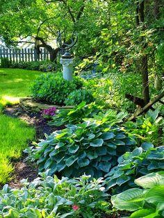 Pretty green shade garden