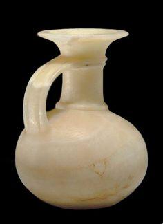 Egyptian alabaster jug ~ New Kingdom ~ Dynasty XVIII-XX ~ 1550-1070 B.C.