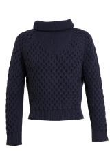 Carven Cropped Cable Knitted Jumper - Lyst