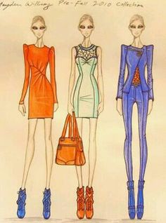 Fashion illustrations by Hayden Williams