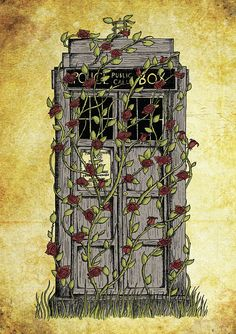 Doctor Who print Rose Dr Who Tardis inspired A4 art by JonTurner, £7.00
