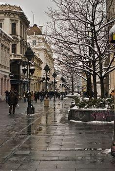 Calle Mihailova en Belgrado