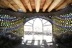 sustainable and pretty, bottle houses