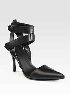 Alexander Wang Sonja Leather Strappy Pumps