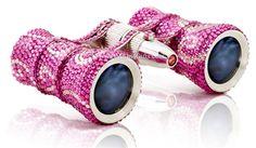 Swarovski rhinestone pink opera glasses