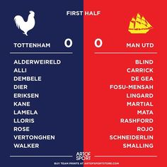And we're underway. Thoughts on line up? #Thfc #tottenham #spurs #mufc #manchester #manutd