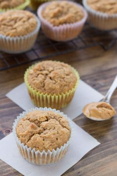 150 calorie Peanut Butter Protein Muffins