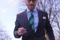 trashnessx:    Amin w/ the Green Silk Tie
