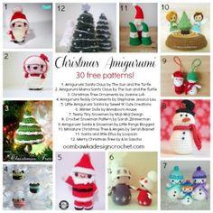 30 Precious Christmas Amigurumi #crochet patterns all FREE - STOP searching and START making. CrochetStreet.com
