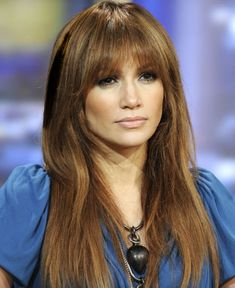 #Jennifer Lopez Fringe Hairstyle | Fringe Hair Extensions | Click on photo to read more ..