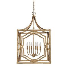 Capital Lighting Blakely 6 Light Foyer Pendant Finish: Antique Gold
