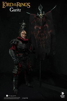 "Mordor Orc Captai Guritz Lord of the Rings 1/4 Scale (18"") action figure"