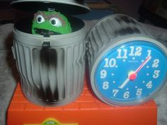 Sesame Street Oscar the Grouch Bradley Collectible Talking Alarm Clock,Tics/Talk