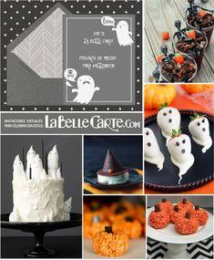Tarjetas de Halloween, invitaciones de Halloween, ideas para Halloween, recetas…