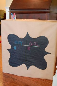 Gender Reveal Party Guests make guesses about the gender of the child tallies a. - Gender Reveal Party Guests make guesses about the gender of the child tallies are made and once ev - Gender Reveal Box, Baby Gender Reveal Party, Gender Party, Balloon Box, Shower Bebe, Party Guests, Reveal Parties, Party Planning, Party Time
