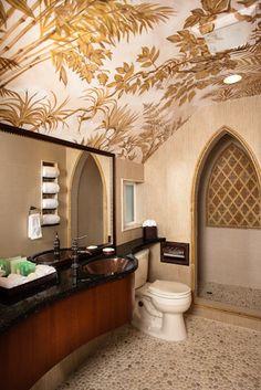 Balinese bathroom at the Pantai Inn, La Jolla CA