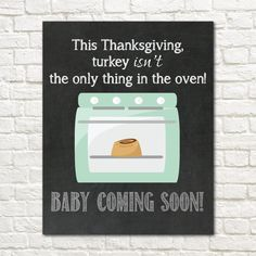 INSTANT PRINTABLE // Pregnancy Announcement Sign // by EensyAva
