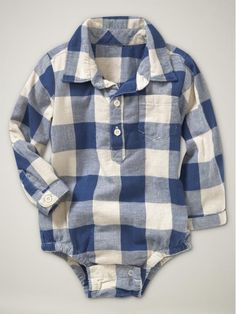 Boy's Flannel Onesie