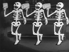 Discover & share this Rave GIF with everyone you know. GIPHY is how you search, share, discover, and create GIFs. 1930s Cartoons, Vintage Cartoons, Classic Cartoons, Halloween Gif, Vintage Halloween, Spooky Scary, Creepy, Halloween Invitaciones, Skeleton Dance
