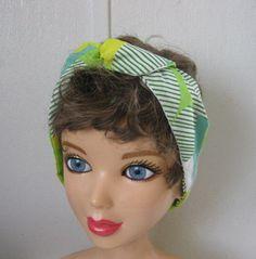 Hair Bandana, RockaBilly Head Band, Bad Hair Day, Rocker, Vintage Geometric Head Band, Boho Hair Band, Hair Trend, Boho, Women and Teens by CrochetnMoreByAlida on Etsy