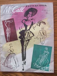 McCALL PATTERN BOOK ~ WINTER 1947 1948 ~ VINTAGE SEWING FASHIONS