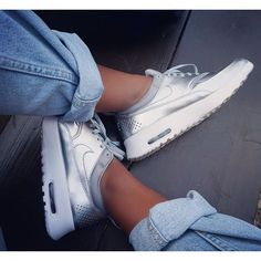 You don't get it by wishing. NIKE Nike Air Max Thea Se Low Sneakers ◽️http://www.hoodboyz.co.uk/product/p179118_nike-shoe-wmns-nike-air-max-thea-se-low-sneaker-silver-white.html