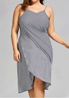 d9ea85d40cf9 Striped Spaghetti Strap Cover Up from  BelleLily Promoted