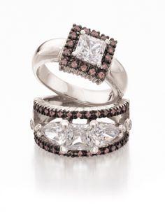 Princess cuts for the contemporary woman. www.jennaclifford.com Jenna Clifford, Rings 2017, Diamond Are A Girls Best Friend, Princess Cut, Stone Jewelry, Jewlery, Jewelry Accessories, Stones, Wedding Rings