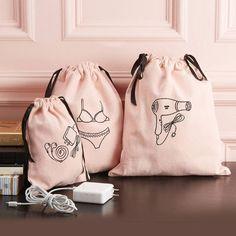 Embroidered Travel Bag Set – Dormify Source by dormify Bag Sets Mrs Bella, Bag Essentials, Bags Travel, Travel Set, Crossbody Bag, Tote Bag, Linen Bag, Bag Organization, Organizing Bags