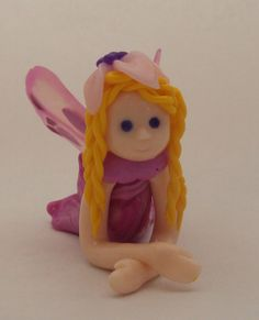 Pink mini Fairy. Handmade with Polymer clay by FriendlyFigures, €12.00