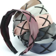 Leather Accessories for Hair Pu Leather Hairbands Headbands Wide Bands Hair Accessories for Women LZA44(China (Mainland))