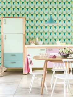 Self adhesive wallpaper wall decal Triangle pattern 023
