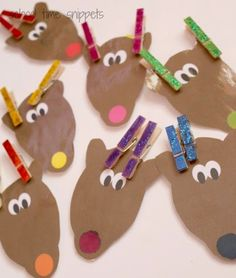 Color Matching Reindeer Clothespin Activity | School Time Snippets