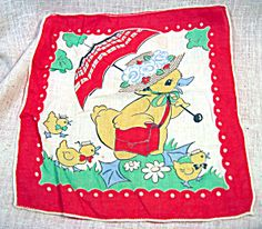Child's Printed Cotton Vintage Handkerchief. Click the image for more information.