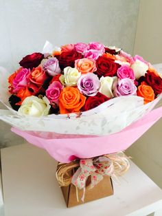 Stunning mass of roses bouquet 80 roses
