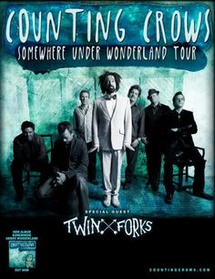 Nashville melodic folk group Twin Forks will make an anticipated return to Canada with Counting Crows this spring, supporting the band on their 'Somewhere Under Wonderland' tour. Much Music, Kinds Of Music, Cynthia Woods Mitchell Pavilion, Dashboard Confessional, Counting Crows, Barcelona, Juni, Wolverhampton, A Decade