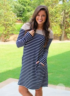 Today Is Your Day Dress in Navy   Monday Dress Boutique