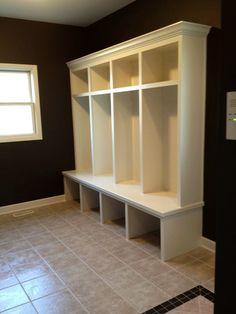 Wood Football Locker Design plans | Interior Design Image: Modern Wooden Mudroom Locker Furniture With …