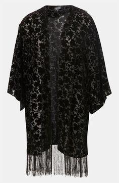 Topshop Devore Velvet Kimono available at #Nordstrom