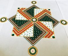 rangoli Traditionally Rangoli is a decorative design made in living rooms and courtyard floors durin Diwali Special Rangoli Design, Easy Rangoli Designs Diwali, Rangoli Designs Latest, Rangoli Designs Flower, Free Hand Rangoli Design, Small Rangoli Design, Rangoli Ideas, Diwali Rangoli, Rangoli Designs With Dots