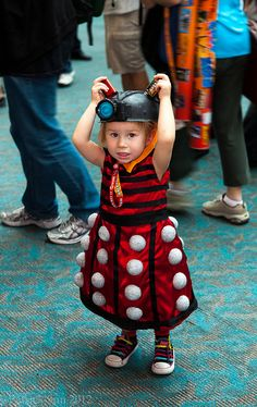 Adorable Dalek   SDCC 2012 Steampunk #cosplay<------costume for any future kids