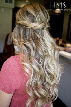 Half up wavy hair