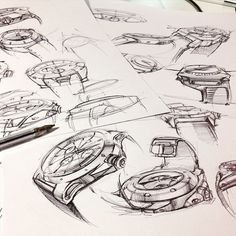 Great way to start the day, with a few watch sketches. Good friday to all of you ✏️
