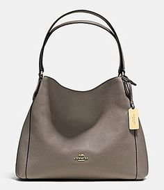 COACH EDIE SHOULDER BAG 31 IN REFINED PEBBLE LEATHER #Dillards