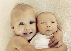 Cute sibling pose for younger siblings