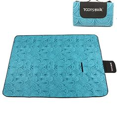 """HAPEE XXX-Large 79x79"""" Outdoor Beach Camping Picnic Blanket Mat Handy Tote with Waterproof and Sandproof Backing, Easy To Fold - Perfect For Beach, Travel, Blue Feather -- See this great product by click affiliate link Amazon.com"""