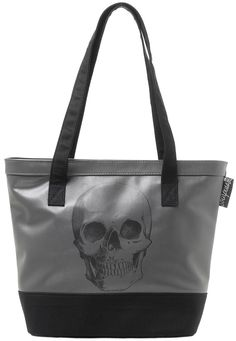 SOURPUSS ANATOMICAL SKULL VINYL TOTE BAG