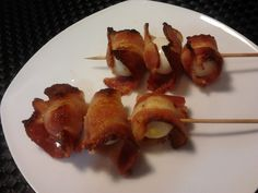 Shan's Recipes: Grilled Quail Egg Wrapped in Bacon