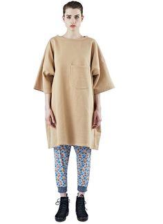 Long Oversized Short Sleeved Sweater